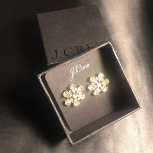 Flower J-crew earrings